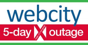 Webcity 5-day Outage 23-27 March 2017