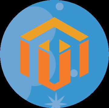 Magento hosting, web hosting service icon
