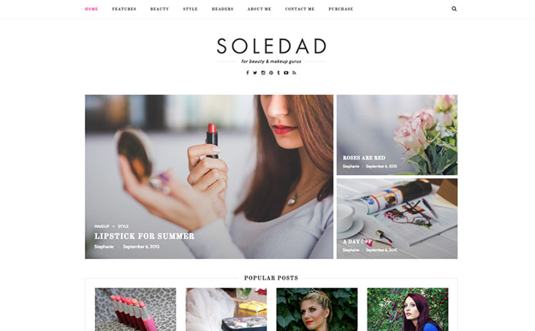 Soledad web theme