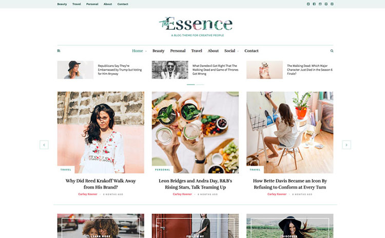 essence blog theme