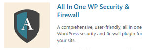 all-in-one wp security and firewall - website security